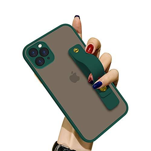 FauNOW - Custodia protettiva per iPhone 11 Pro Max, sottile, antiurto, trasparente, opaca, con supporto telescopico portatile per iPhone 11 Pro Max 6,