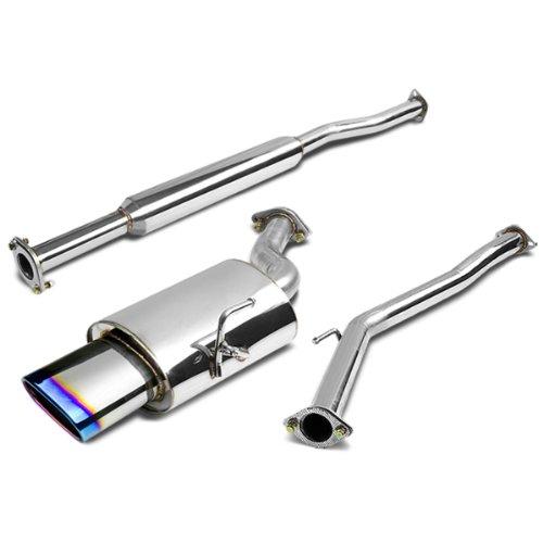 DNA Motoring CBENA02L4OVBT Stainless Steel Cat back Exhaust System