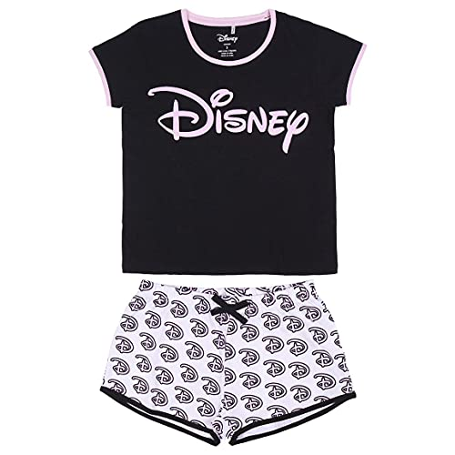 CERDÁ LIFE'S LITTLE MOMENTS Mujer Pijama Corto Mickey Mouse-Licencia Oficial Disney, Negro, L