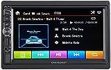 CREASONO 2 DIN Radio: 2-DIN-DAB+/FM-Autoradio, Touchdisplay, Bluetooth, Freisprecher, 4x45 W (DIN2 Autoradio)