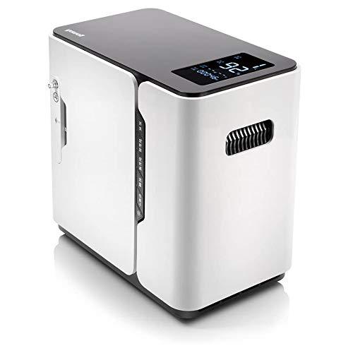 NXWL Máquina Oxígeno, Hogar 7L Doble Portable con Iones Negativos Blanca con Display Se Puede Programar Concentrador Oxígeno, Purificador Aire Uso A La Inicio del Sueño/Viajes/Car