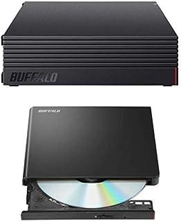 【Android搭載テレビユーザー向け】BUFFALO Android搭載テレビ向け ポータブルDVDプレイヤー「ラクみる」DPV-PLAU2-BK/N +BUFFALO 外付けHDD 4TB テレビ録画 HD-AD4U3