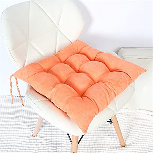 SWECOMZE Sitzkissen 2er-Set Kissen Stuhlkissen Auflage Sitzauflage, 40 * 40cm Gartenstuhlkissen, Sitzauflage Auflage für Garten, Balkon Terrasse (Orange,Quadrat)