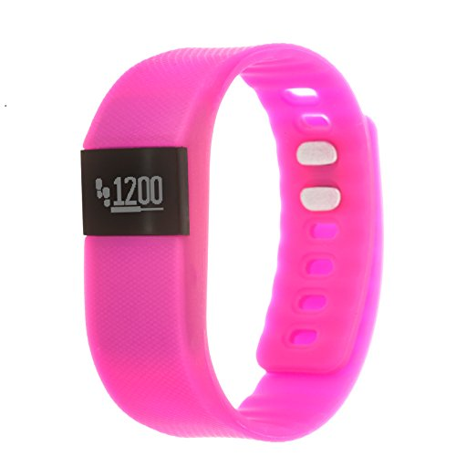 Zunammy Chinese-Automatic Fitness Watch with Rubber Strap, Orange, 20 (Model: NWTR021PK)