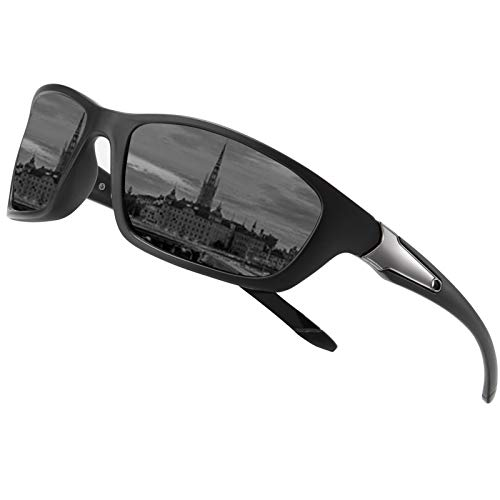 Perfectmiaoxuan Gafas de sol polarizadas para hombre mujer/Golf de pesca fresco Ciclismo El golf Conducción Pescar Alpinismo Deportes al aire libre Gafas de sol (A/black)