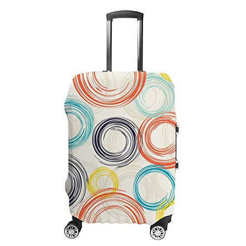 Luggage Cover Travel Anti-Scratch Suitcase Cover Baggage Protector Case 50s 60s Abstract Fit Washable Accessories Dustproof L