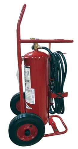 Amerex 495, 50lb ABC Dry Chemical Class A B C Wheeled Fire Extinguisher