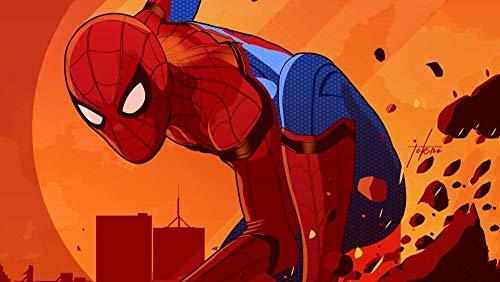 NIYEYE Rompecabezas 1000 Piezas Rompecabezas 3D De Regalo para Niños Adultos Sensorial Juegos Educativos, Spider-Man: Movie Poster: H