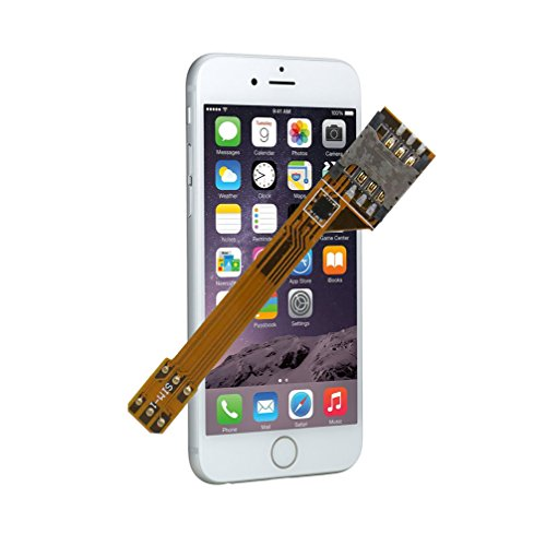 GVKVGIH Dual SIM Adapter Set for iPhone 6, Switch 2 SIM Cards in 1 Phone Dual SIMs Single Standby Adapter(iPhone 6)