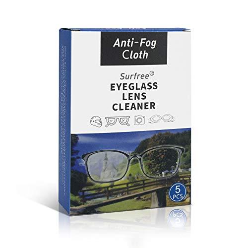 Antibeschlagtuch Tücher für Brillen (5 Stück),Nano Anti-Fog Tuch,Anti-Beschlag-Reinigungstücher für Brillen,Wiederverwendbare Brillentücher für Objektive,Brillen,Telefon,LCD-TV-Bildschirme