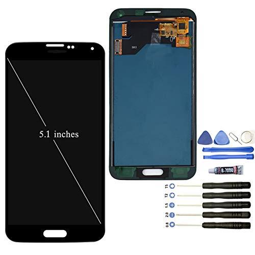 YWL-OU pour les composants d'affichage à cristaux liquides Samsung Galaxy S5 G900F LCD Écran et un ensemble d'outils polyvalents (noir)