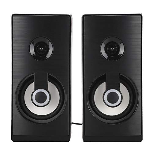 1 Set Lichtgewicht Houten Multimedia Desktop Miniluidspreker Stereogeluid Muziek Subwoofer USB Laptop-luidsprekers, met verkoelende ademlichten(Houten bed)