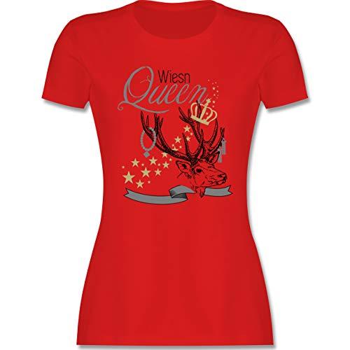 Oktoberfest & Wiesn Damen - Wiesn Queen - XXL - Rot - Oktoberfest Damen - L191 - Tailliertes Tshirt für Damen und Frauen T-Shirt