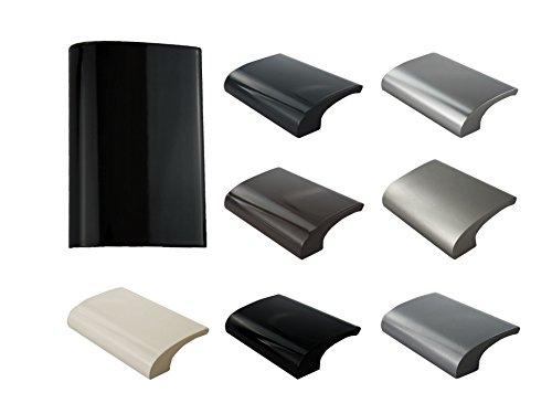 MS Beschläge Balkongriff Ziehgriff Terrassentürgriff Deluxe - Aluminium - diverse Farben (Schwarz - RAL 9005)