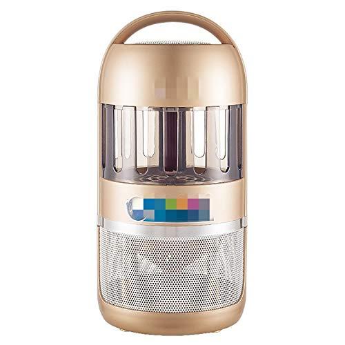 QuRRong Lámpara de Mosquitos Restaurante LED Móvil con batería de Litio Bluetooth Smart Home Mosquito Killer Lighter para Patio Trasero (Color : Gold, Size : 14x30cm)