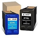 ATOPolyjet - Cartuchos de Tinta remanufacturados para HP 21, 22, XL,...