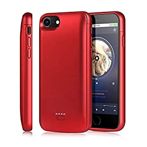 Tayuzh Iphone 66s78se 2020 Battery Case 4000mah Ultra Slim Portable Protective Charging Case Compatible For Iphone 6s7847 Inch Magnetic Battery Case Rechargeable Battery Charger Case Red
