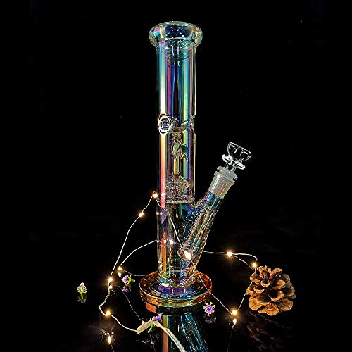Product Image 8: REANICE Bong Hecho a mano 14,5 mm Altura 31cm Tubos de Cristal Glass Water Bong