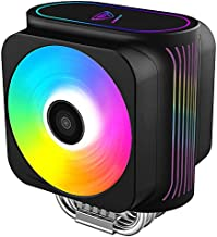Pccooler GI-D66A CPU Cooler Moonlight Series | Dual Silent CPU PWM Fan 120mm | E-Sports Plexiglass Top Cover Sync with ARGB Lights | 6 Direct Contact Heat Pipes for Intel Core i7/i5/i3, AMD Series