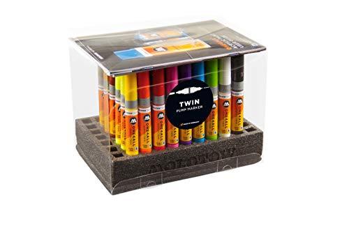 Molotow One4All Acrylic Twin Marker (Complete-Set, Strichstärke 1.5 mm und 4 mm, hochdeckend und permanent) 50 Stück sortiert