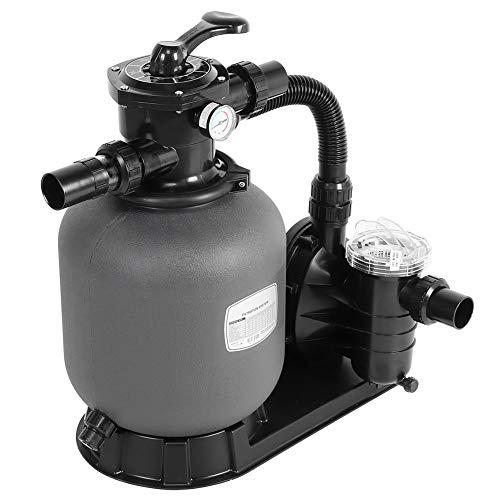 Sistema de filtro de arena para estanque y piscina, bomba y filtro para la filtración, sistema de bomba de agua de circulación, filtro de arena de gran volumen 4,32 m3/h (EU Plug)