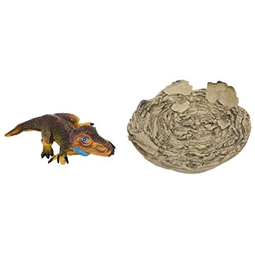 Jiawu Dinosaur Cub Model, Toy Figures Playsets Dinosaur Figure Model Children Dinosaur Model for Home Kindergarten(Sickle Dragon Cub Nest)