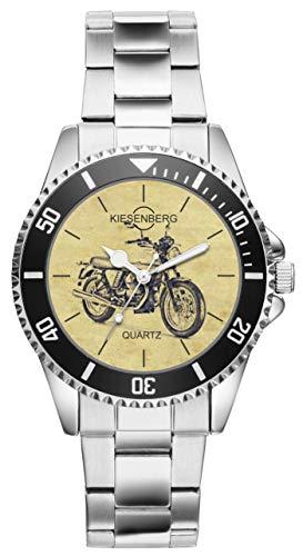 Geschenk für Moto Guzzi V7 Motorrad Fahrer Fans Kiesenberg Uhr 20421