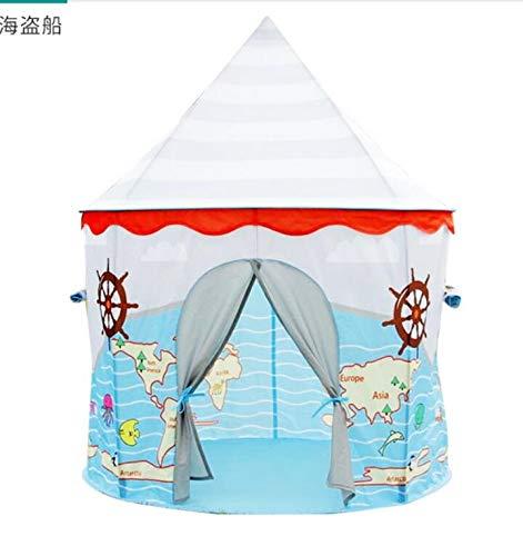 Humanity Piraten-Schiff Schloss Zelt, Castle House Palace Zelt Kinderspielhaus, Schloss Indoor- und Outdoor tragbare Kinder Spielzeug-Zelt, Faltbarer Kinderspielzelt for Jungen und Mädchen