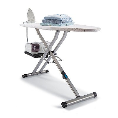 Rowenta IB9100 Pro Compact Professional Space Saving Folding Ironing Board 4-Leg with Hanger Racks...