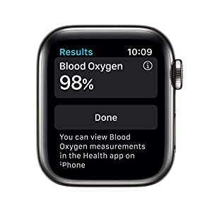 Apple Watch Series 6 (GPS + Cellular, 40mm) - Graphite Stainless Steel Case with Black Sport Band (Renewed)