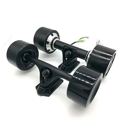 YOUMI Electric Skateboard Drive Kit Dual Drive Hub Brushless Motor Wheel 550w High Power 90mm High Elasticity Pu Wheel, Skateboard Assembly,Schwarz