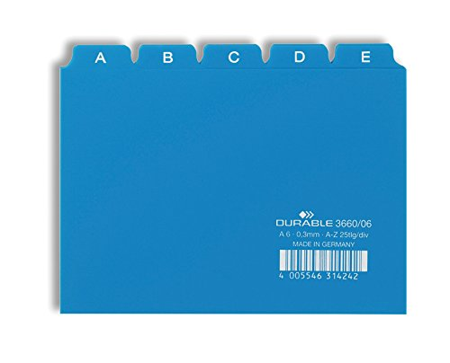 Durable 366006 Leitregister A - Z (A6 quer) 1 Stück blau