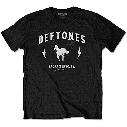 Rock Off Deftones T Shirt Electric Pony Band Logo Nouveau Officiel Homme Size XL