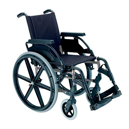 Breezy Premium-Rollstuhl (Antigua 250) in Selengrau mit 24-Zoll-Rad, Sitzfläche 49 cm