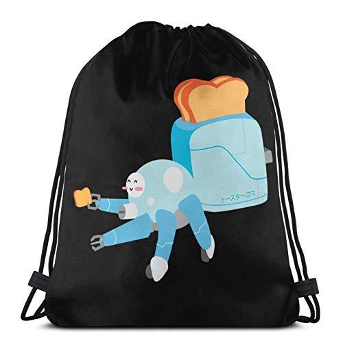 Anime Toast in der Schale Csic Drstring Bag Sport Fitn Bag Reisetasche Geschenktüte