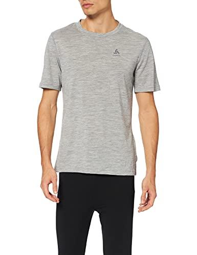 Odlo - 110822 - T-Shirt Manches courtes - Homme - Gris (Gris Mélange) - Taille: S