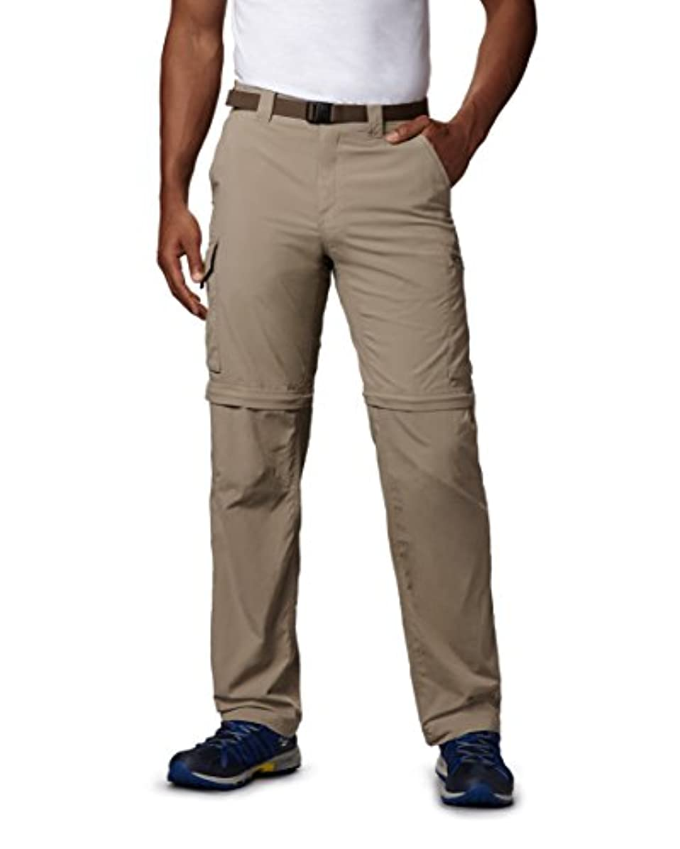 Columbia Men's Silver Ridge Convertible Pant, Breathable, UPF 50 Sun Protection, Tusk, 30x28