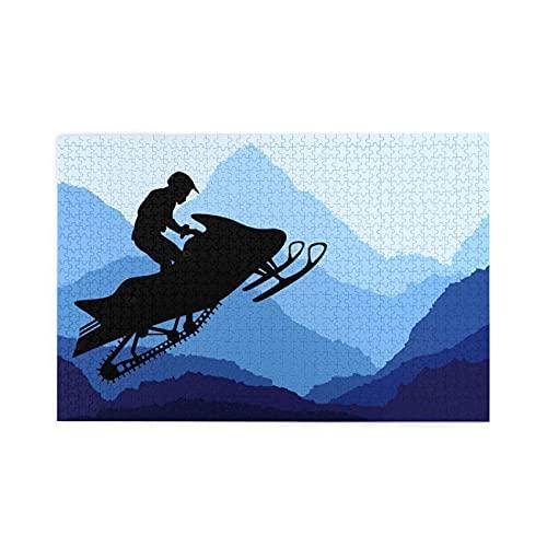 CZMCQM Snowmobile Print 1000 Pezzi Di Adulti Bambini Puzzle Educativi Giochi Per Bambini Giochi Genitori-Bambino Giocattoli