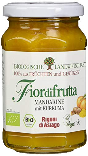 Rigoni di Asiago Fiordifrutta - Fruchtaufstrich - Mandarine Kurkuma Bio, 1er Pack (1 x 260 g) 6025