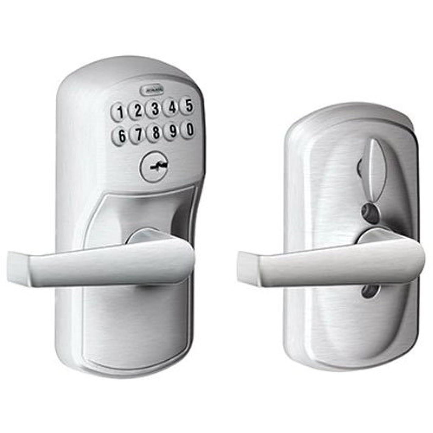Schlage FE595CS V PLY 626 ELA Plymouth Light Commercial Electronic Keypad Lock with Elan Lever, Brushed Chrome