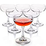 FAWLES Crystal Coupe Glasses, Set...