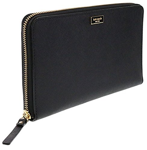 Kate Spade New York Laurel Way Talla Saffiano Leather Wallet Clutch (Black) Mississippi