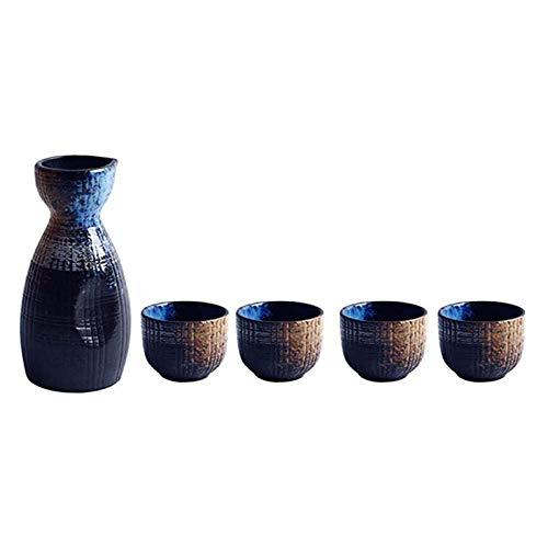 GAOAO 5 Piezas de Vidrio de cerámica Tradicional del Grupo de Sake japonés - Serie de rimas