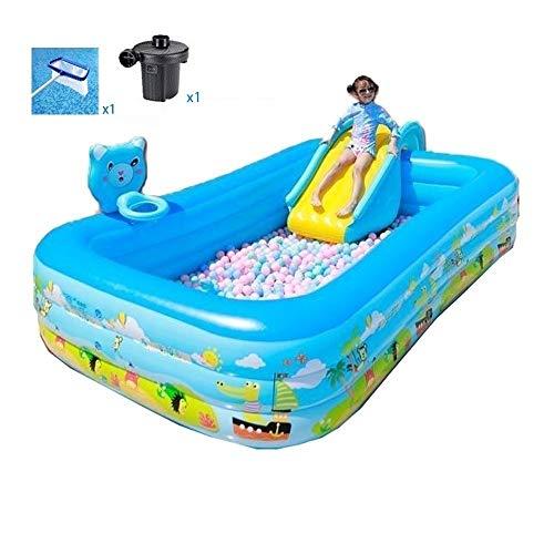 DYYD Diseño de Gran tamaño Piscina con tobogán for los niños, la interacción Familiar Big Space Summer Pool Party interacción Entre Padres e Hijos