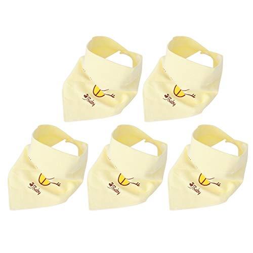 SALUTUYA Baberos de bebé absorbentes Suaves 0-3 años(Yellow)