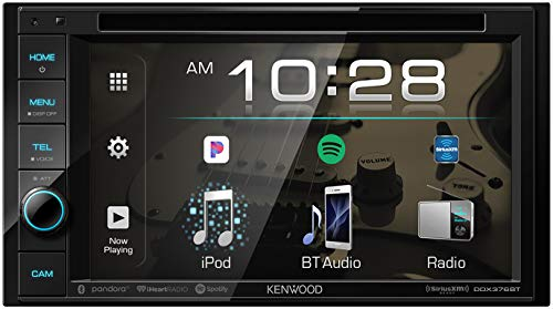 """Kenwood DDX376BT Double DIN In-Dash 6.2"""" DVD Receiver with Bluetooth   Car Stereo Receiver   Clear..."""