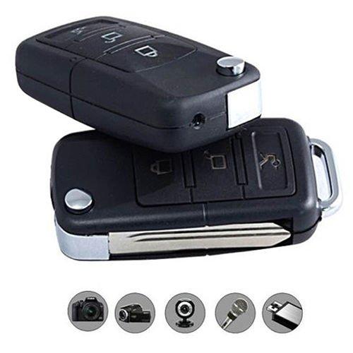 Caméra Espion Cachée dans un Porte-clés de Voiture Espion Porte-clé Caméra Spy Camera Porte-clé voiture pour enregistrements vidéo secréte