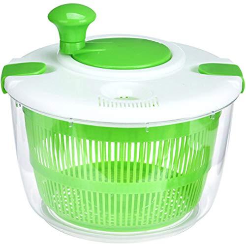 KNDJSPR Essoreuse à Salade, Grand séchoir à légumes Rapide capacité multifonctionnelle à égoutter la laitue légume pour la Cuisine à Domicile, Vert