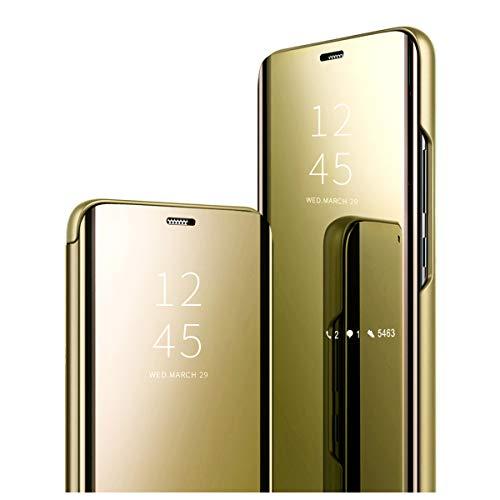 Clear View Standing Cover für das Samsung Galaxy S9,Hülle kompatibel mit Galaxy S9, Spiegel Handyhülle Schutzhülle PU-Leder Flip Cover Schutz Tasche mit Standfunktion 360 Grad hülle für Galaxy S9 (2)