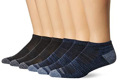Weatherproof Men's 6 Pack Low Cut Socks, Gray/Blue, 10-13